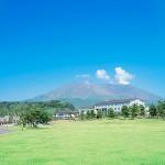 レインボー桜島は桜島の麓にあり、また眼前にある錦江湾を一望できます。