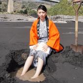 休暇村グループの公共の宿 国民宿舎レインボー桜島 桜島温泉掘り体験