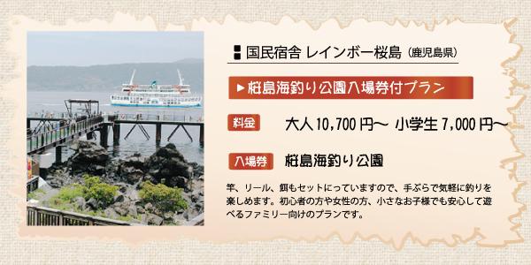 休暇村グループの宿 入園券付プラン 国民宿舎レインボー桜島