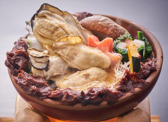 休暇村グループの公共の宿 グリーンピアせとうち 牡蠣の土手鍋