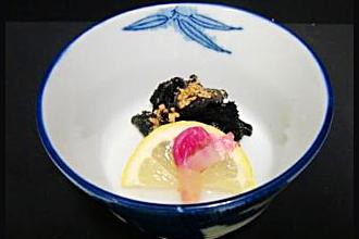 岩茸の酢物