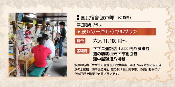 休暇村グループの宿 入園券付プラン 国民宿舎波戸岬