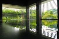 緑が水面に映る大浴場 とてもきれい!!