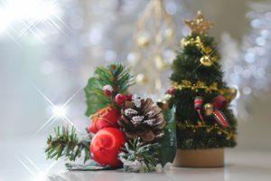 休暇村グループの公共の宿 国民宿舎両神荘 クリスマスツリー