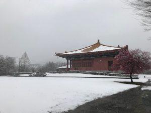 休暇村グループの公共の宿 国民宿舎両神荘 雪景色2