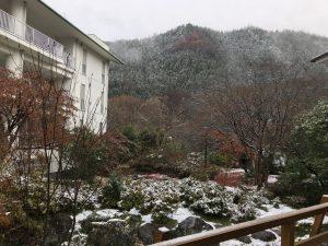 休暇村グループの公共の宿 国民宿舎両神荘 冬景色